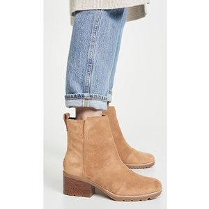 NWT SOREL | cate waterproof suede booties casual